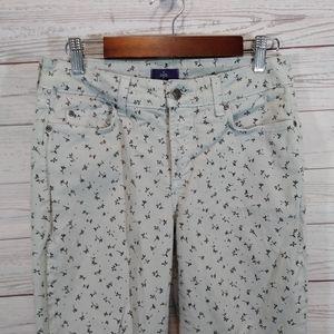 NYDJ skinny jeans ankle length floral print